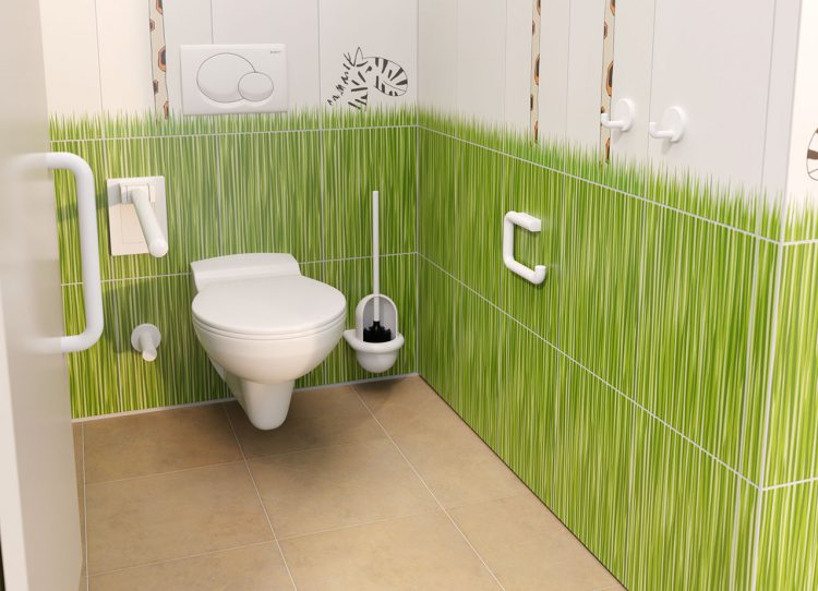 Kindgerechte Badezimmer müssen auch elterntauglich sein.