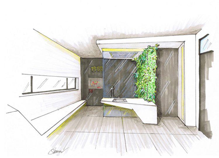 hightech bad. Black Bedroom Furniture Sets. Home Design Ideas
