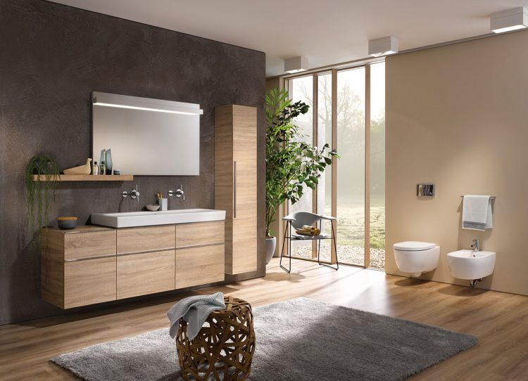 Moderne badezimmermöbel günstig  Moderne Badmöbel sehen schick aus und halten Ordnung.