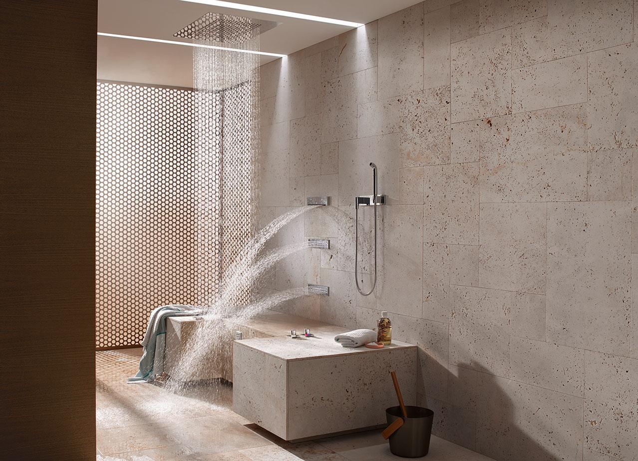 Im modernen Bad herrscht Steinzeit