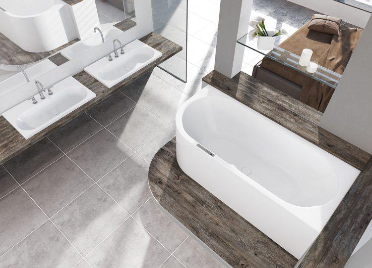 schicke badewanne mit verkleidung sucht wandanschluss. Black Bedroom Furniture Sets. Home Design Ideas