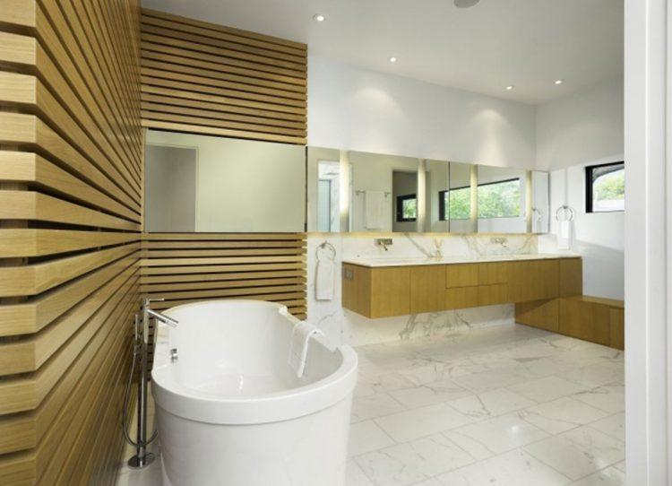 Badezimmer Holzwand Bilder | Die Badezimmer Wand Kann Auch Ohne Fliesen Muss Aber Nicht