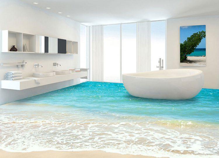 Nice 3d boden badezimmer photos beibehang 3d bodenbelag for Boden 3d bilder